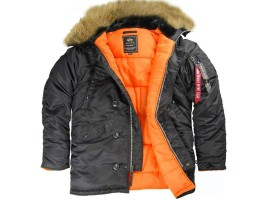 Куртка аляска Alpha Industries N-3B Slim Fit Black/Orange