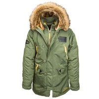 Куртка аляска Alpha Industries N-3B Inglement sage green