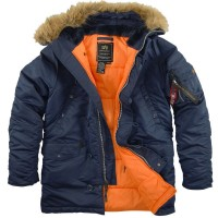 Куртка Аляска Alpha Industries N-3B Blue/Orange